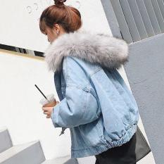 Áo khoác bò nữ lót lông