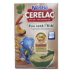 Bột ăn dặm Nestle Cerelac rau xanh và bí đỏ hộp 200g