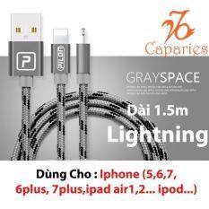 (Có 3 màu) Cáp Sạc Siêu Bền Lightning PILON (Iphone , ipad ) 1.5 Mét – Dây dù bảo vệ 3 lớp