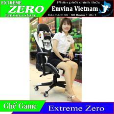 Ghế chơi game EXTREME ZERO chân xoay ngã lưng 180 độ 2 gối tựa êm kê tay điều chỉnh cao thấp và xoay nguyên hộp đủ ốc và dụng cụ lắp đặt ghế xoay phù hợp ngồi chơi game văn phòng học tập làm việc gaming EMVINA VIETNAM NÂNG NIU BỜ MÔNG VIỆT