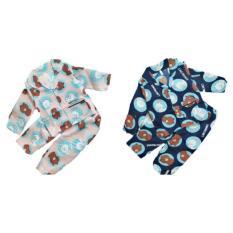 Combo 02 bộ pijama dài tay bé trai bé gái từ 10-22kg (tặng khẩu trang xô )