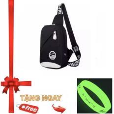 Túi đeo Nam MINI ACG TX349 ( ĐEN) +Tặng vòng tay dạ quang phát sáng đeo được cho nam và nữ