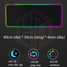 Bàn di chuột RGB vải mềm 80*30cm