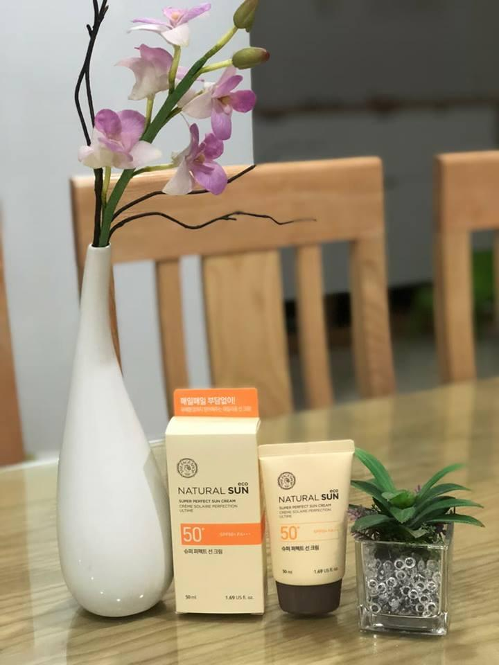 The Faceshop – Kem chống nắng NATURAL SUN ECO SUPER PERFECT SUN CREAM SPF50+ PA+++