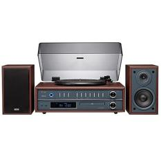 Máy đọc đĩa than TEAC LP-P1000 Turn Stereo System with CD/Radio/Bluetooth 25W (Nâu)