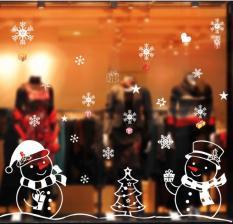 Decal dán tường Noel, giáng sinh, Christmas 02 người tuyết- XL701