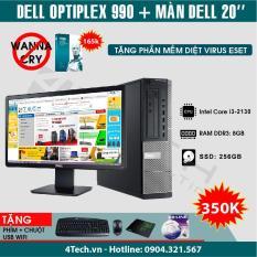 So sánh giá Máy tính đồng bộ Dell Optiplex 990 Intel Core i3 2130 RAM 8GB SSD 256GB màn hình 20″ + Tặng bộ Bàn phím + chuột + bàn di + USB Wifi) – Hàng nhập khẩu. Tại Lựa Chọn Thông Minh