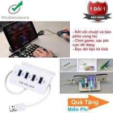 Bộ chia 4 Cổng USB OTG HUB với Dock cho điện thoại thông minh & Máy Tính