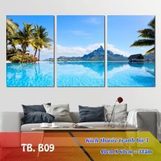 [Sale] Tranh treo Tường Biển B09-5- Tranh gỗ treo tường [Gỗ MDF cao cấp, chống ẩm mốc R1,8m C0,9m] Timilo Decor