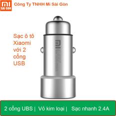Sạc ô tô Xiaomi Vỏ Kim loại 2 cổng UBS