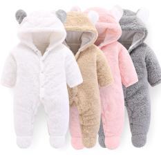 Sleepsuit- Jumpsuit – Body lông thú 2 lớp có mũ xuất Nhật hàng cao cấp (Body ủ ấm cho bé Trai bé Gái) Body cho bé mặc mùa đông