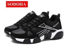 Giày Thể Thao Nam Đa Năng SODOHA SDM68989WB Màu Đen Phối Trắng