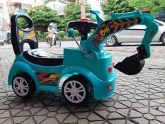 Xe chòi chân máy xúc có nhạc trẻ em