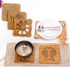 COMBO 6 đế lót nồi bằng gỗ cho xoong, nồi, bát đĩa.