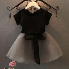 Set đồ chân váy xòe + áo phông cực yêu dành cho bé gái