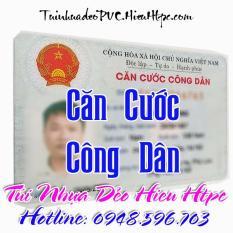 Bộ 2 Túi nhựa dẻo PVC Căn Cước Công Dân (Thẻ nhựa)