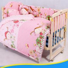 Bộ 3 món gồm Quây,Nệm, Gối nằm size 60×110 cm cho Cũi em bé