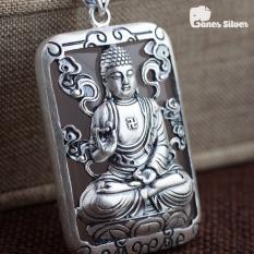 Mặt dây Chuyền Phật bản Mệnh Người Tuổi Thân – Mùi, Mặt Dây Chuyền Bạc Nam Phật Như Lai Đại Nhật Chất Liệu Bạc Thái Cao Cấp – Thương Hiệu Ganes (Bạc)