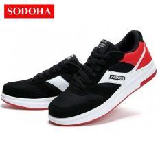 Giày Sneaker Thể Thao Nam Đa Năng Mẫu Mới Sodoha Tu60-39 Đen Phối Đỏ