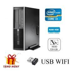 Cây máy tính để bàn HP 6200 Pro Sff, EB01 (CPU I3 2100, Ram 4GB, HDD 160GB, DVD) tặng USB Wifi, hàng nhập khẩu (không kèm màn hình).