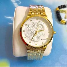Đồng hồ nam dây thép mặt rồng cao cấp Baishuns BSR003