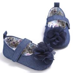 Giày Tập Đi Đế Mềm Jean Cá Tính Cho Bé Gái