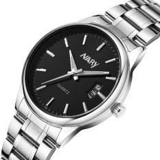 Đồng hồ nam cổ điển Nary R01 hiển thị Analog lịch ngày tự động dây thép không gỉ