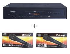 Đầu DVD Karaoke Arirang AR-36MD + 2 micro có dây Arirang 3.6B