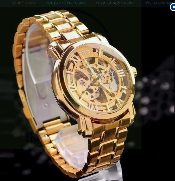 Đồng hồ nam dây thép không gỉ Sewor 6049 (Vàng)