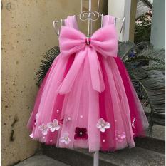 váy tutu công chúa hồng phấn pha hồng sen nơ hồng phấn