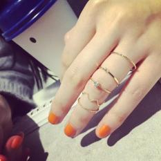 Set 5 nhẫn nữ dáng mảnh