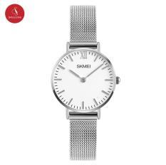 Đồng hồ nữ SKMEI 1181 cao cấp 28mm (Bạc) + Tặng Hộp đựng đồng hồ thời trang