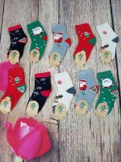 Bộ 10 đôi Tất Noel Cổ Cao bé yêu từ 2-12 tuổi