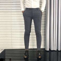 Quần âu ( tây ) nam ghi xám đậm, kiểu dáng Hàn Quốc body ống đứng, chất lượng, khuyến mãi hấp dẫn, màu xám đậm.