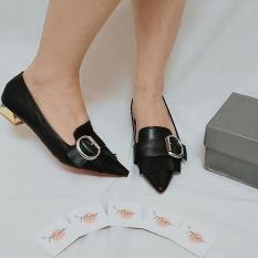 [M55-299] Giày Đen tua rua đen – Size 37