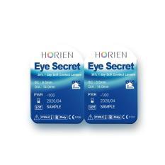 (Hàng mẫu-Sample) Combo 3 cặp kính áp tròng không màu dùng 1 ngày Eye Secret (Cận 1-8 độ)