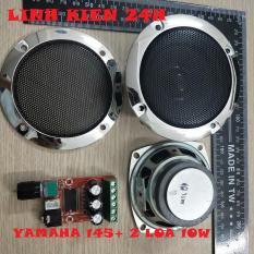 Combo mạch âm thanh yamaha + 2 loa 10w kèm lưới siêu chất