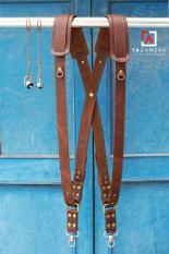 Dây đeo 2 Máy Ảnh Da Bò Handmade