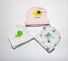 Combo 3 nón cho bé sơ sinh thun mềm hiệu Hotga