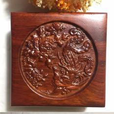 Hộp đựng trang sức gỗ hương trạm khắc Chim Phượng