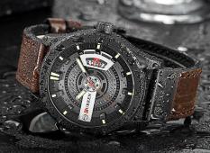 [GIẢM GIÁ CỰC MẠNH] Đồng hồ nam dây da cao cấp mặt thép trẻ trung, sang trọng- Đồng hồ CURREN