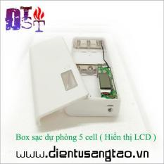 Box sạc dự phòng 5 cell hiển thị LCD
