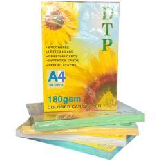 Giấy bìa Thái A4 180gsm – Màu vàng – 1 xấp 100 tờ