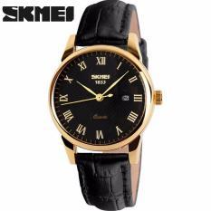 Đồng hồ nam SKMEI dây da trơn cao cấp lịch ngày IW-9058