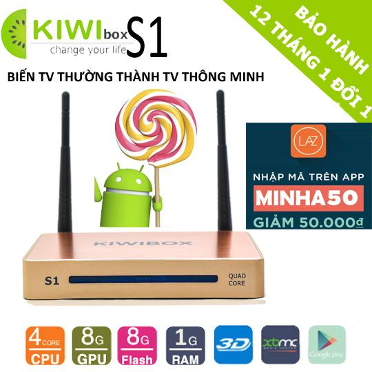 Android Tivi Box Kiwi S1 4K Ultra HD RAM 1GB