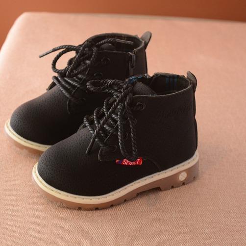 Giày boot cao cổ da mọi đế mềm siêu bền cho bé - BC083-06