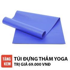 Thảm tập yoga Ribobi trơn 6mm (Xanh dương)