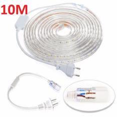 Đèn LED dây 5050 10m ống nhựa 220v tặng kèm 1 dây nguồn tốt
