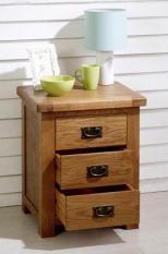 Tủ nhỏ đầu giường 3 ngăn kéo gỗ sồi