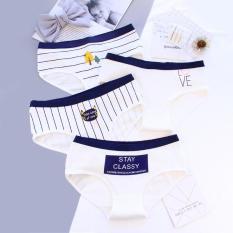 Bộ 4 quần lót stay trắng phối xanh